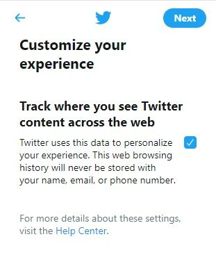 Track twitter contacts