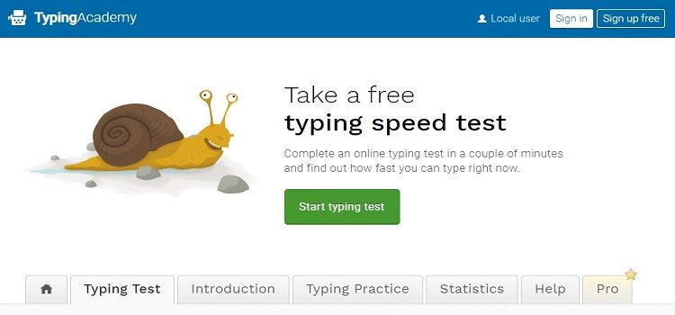 Typing academy typing master
