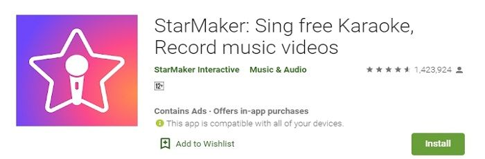 StarMaker music app