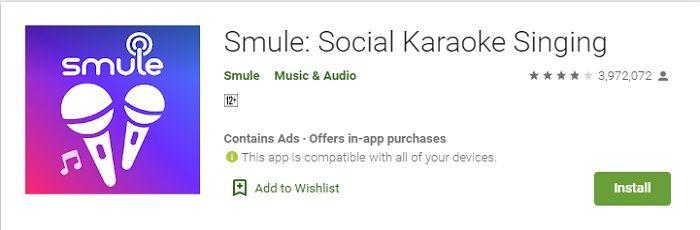 smule karaoke music app