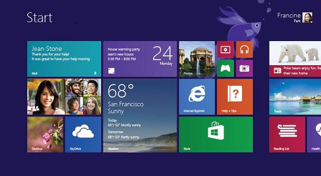 windows 8.1preview start
