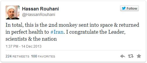 iran president tweet