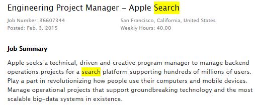 apple search job