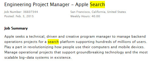 apple search job