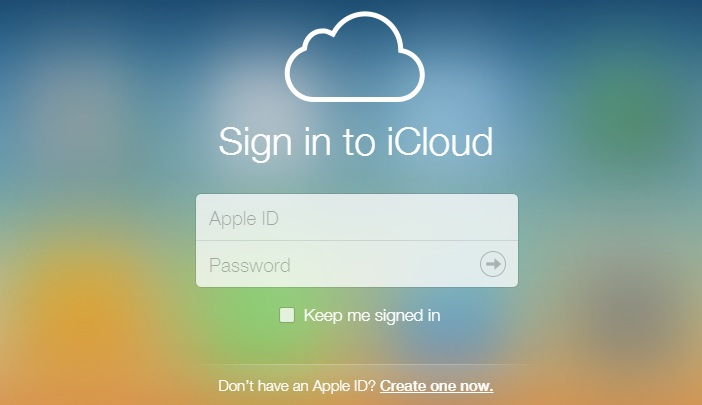 sign in up icloud