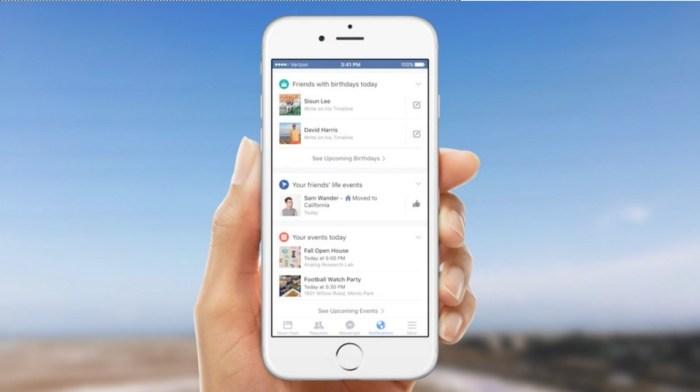facebook notification tab