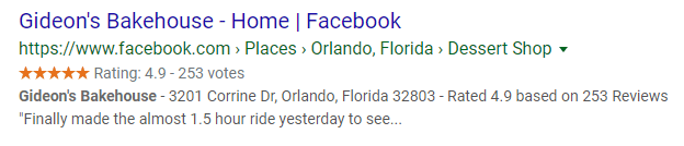 facebook page search