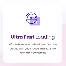Affiliate Booster fast loading
