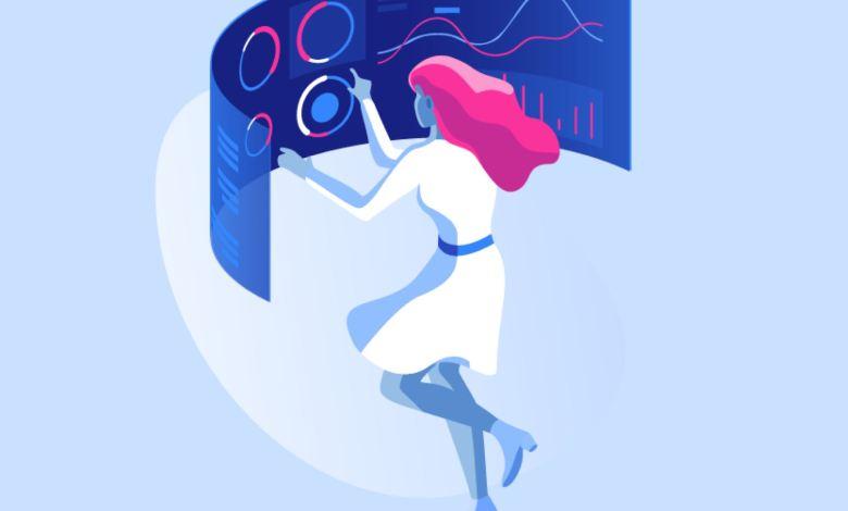 Illustrated woman