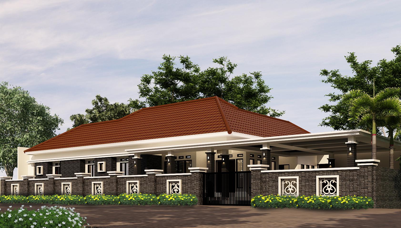 Desain Rumah Mewah 1 Lantai Jasa Desain Rumah Bangun Rumah