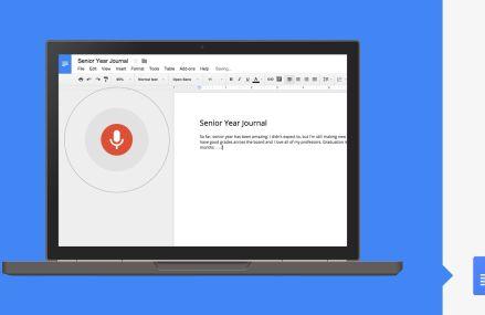 Google Docs permite editarea documentelor cu vocea