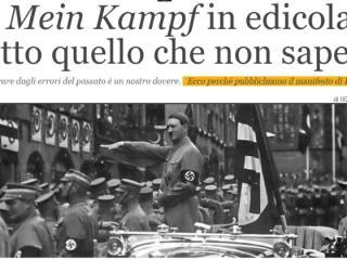 Scandal in Italia dupa ce cotidianul de drepta Il Giornale le ofera cititorilor ca supliment Mein Kampf