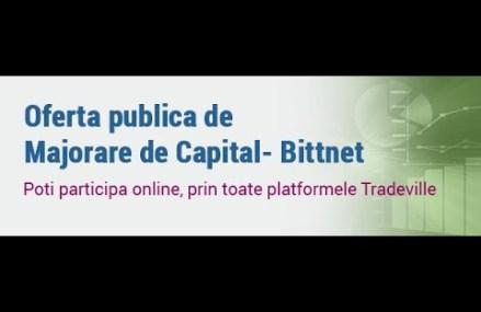 Tehnologia ne apropie: Tradeville intermediaza Oferta Publica de Majorare de Capital pentru Bittnet