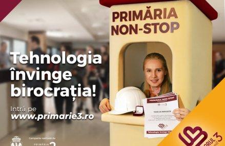(P) În Sectorul 3, Primăria e NON-STOP. Taxe şi impozite, autorizaţii, solicitări, totul se rezolvă online!