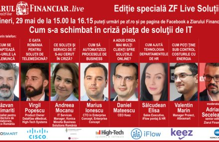 EDIŢIE SPECIALĂ ZF Live Soluţii IT, 29 mai, ora 15.00: Cum s-a schimbat în criză piaţa de soluţii de IT?