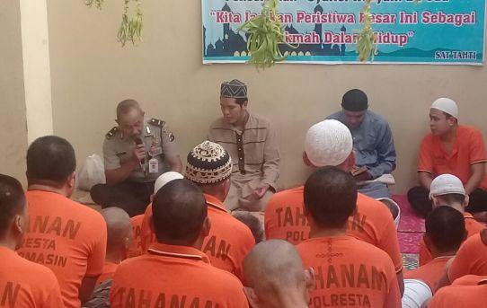 Polresta Banjarmasin Gelar Peringatan Maulid Nabi Muhammad Saw Bersama Puluhan Orang Tahanan