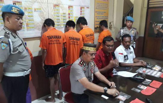120 Paket Sabu Disita, 5 Pelaku Narkoba di Tangkap Polsek Banjarmasin Timur