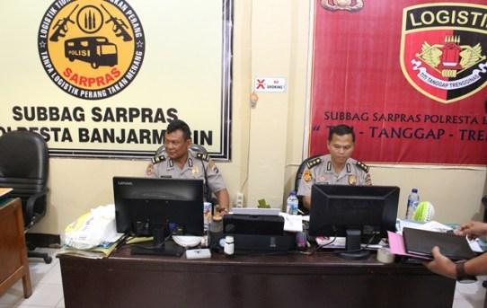 Subbag Sarpras Polresta Banjarmasin Sambut Kedatangan Tim Supervisi
