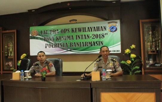 Polresta Banjarmasin Gelar Latihan Pra Oprasi Bina Kusuma Intan 2018