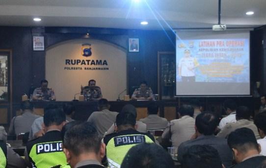 """Latihan Pra Ops Kepolisian Kewilayahan """"Zebra Intan – 2019"""" Polresta Banjarmasin"""
