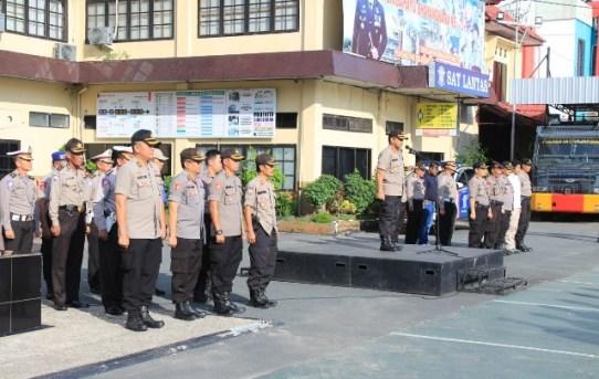 Polresta Banjarmasin Gelar Apel Kesiapan Pengamanan Malam Natal 2019