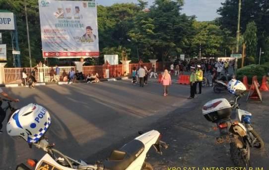 Polresta Banjarmasin : Sat Lantas Gelar Pengamanan Jalur Car Free Day (CFD) Banjarmasin