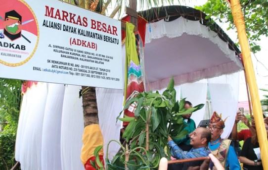 Kapolresta Banjarmasin Hadiri Peresmian Markas Besar Aliansi Dayak Kalimantan Bersatu