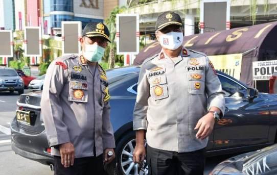 Wakapolda Kunjungan Ke Pos Pengawasan Dan Pemeriksaan PSBB