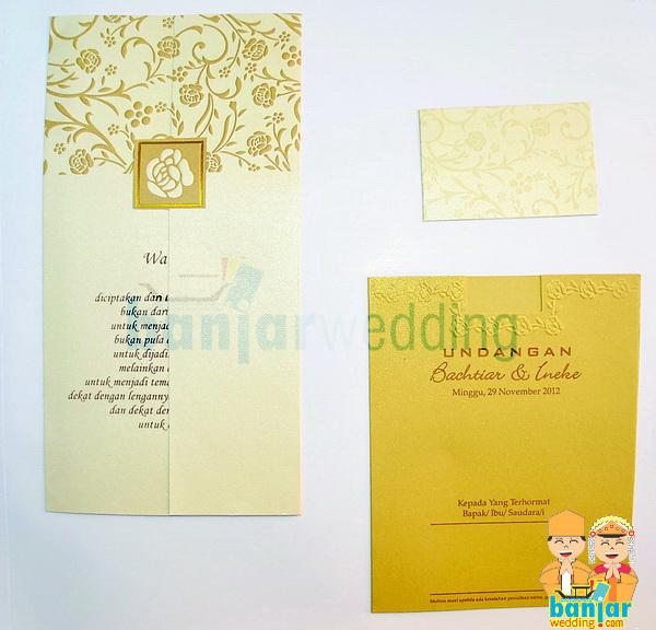 Undangan Pernikahan Ekslusif Batik Indonesia Emas Ebi 08e Banjar