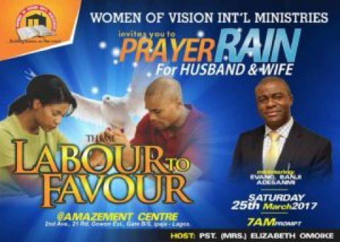 PRAYER RAIN - LABOUR TO FAVOUR - Banji Adesanmi Ministry