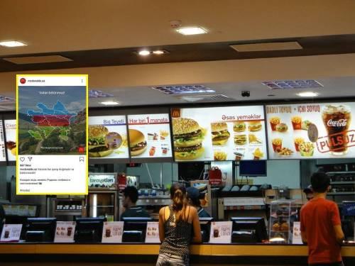 """McDonald's"""", """"KingBurger"""" və """"Papa John's"""" Azərbaycana dəstək postlarını  sildi - Həmin şirkətlərə boykot tələb edilir"""