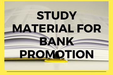 tudy Materal for Bank Promotion Test