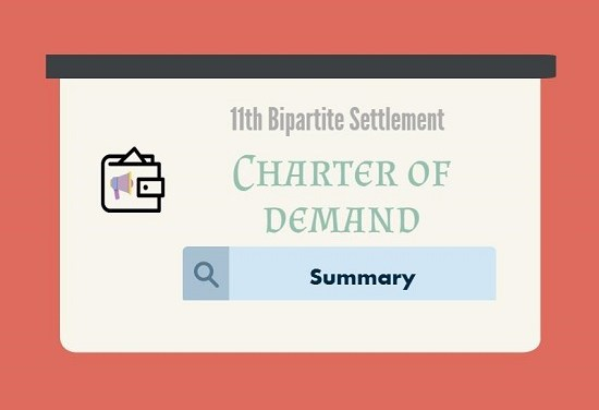 Summary of Charter of demand for 11th Bipartite Settlement