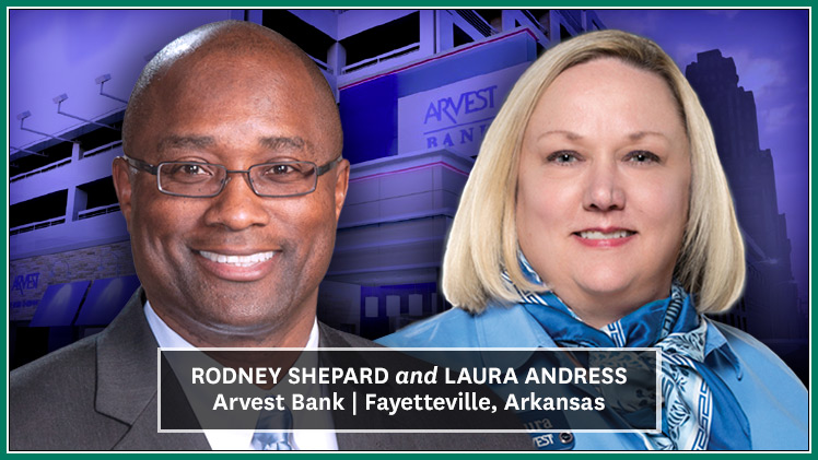 Arkansas: Arvest Bank Taps Shepard and Andress for New Roles