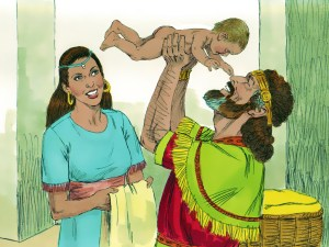 David and Bathsheba celebrate Solomon