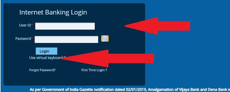 dena bank net banking login