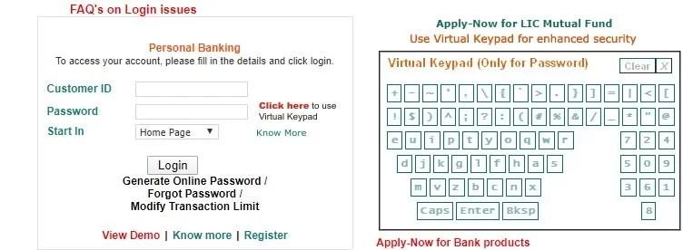 idbi net banking login