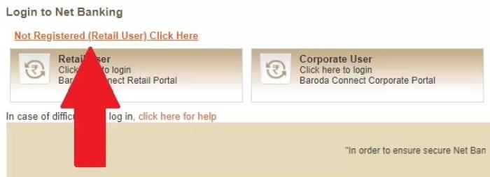 bank of baroda net banking activation