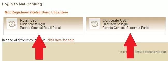 bank of baroda net banking login