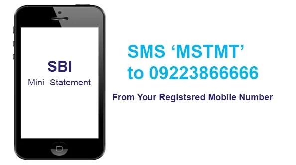 sbi mini statement number