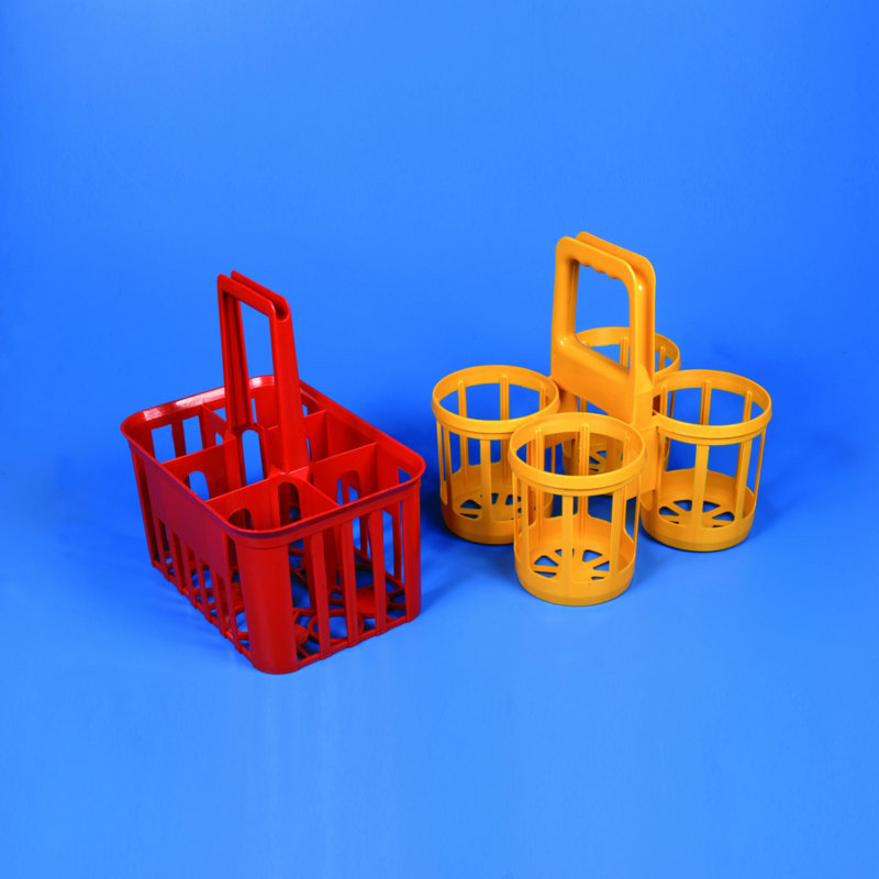 BOTTLE CARRIER HDPE  for Bottles with Max. Dia. of 95 mm   | 6 Place * Red *