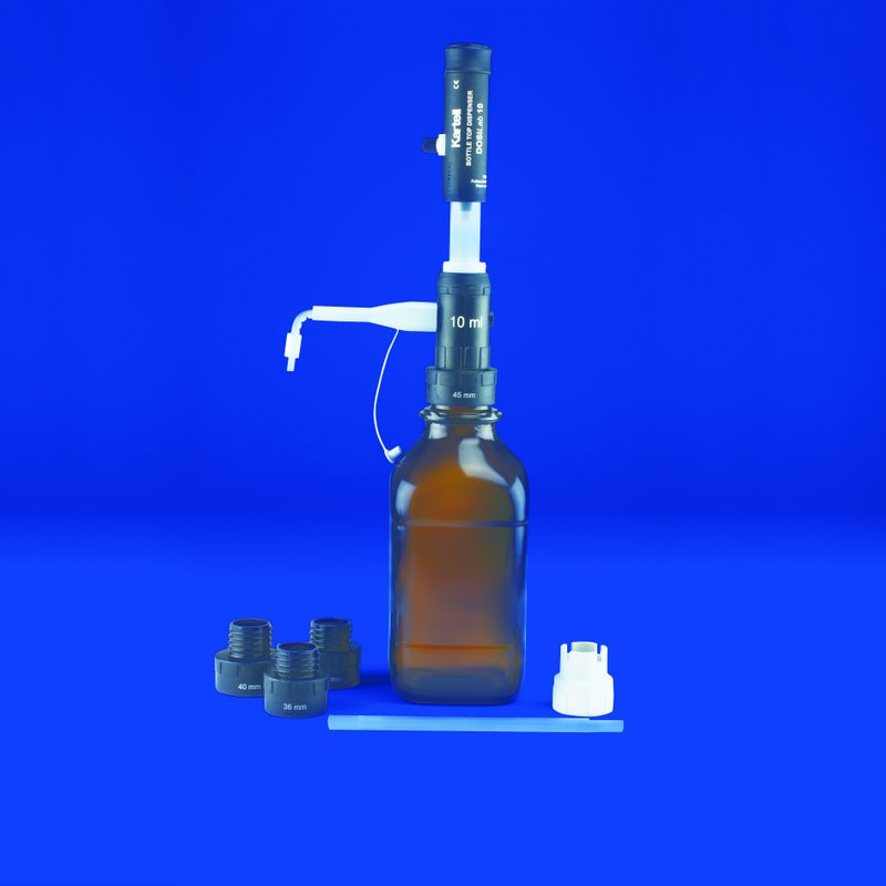 'DOSILab' ADJ. VOL. BOTTLE TOP DISPENSER   2.5 ml Capacity : 0.05 ml Div.   | 0.2 - 2.5ml