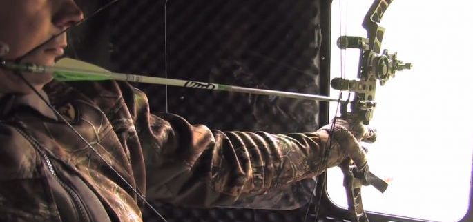 A bowhunting blind allows you to draw back undetected while providing a comfortable place to sit all day long.