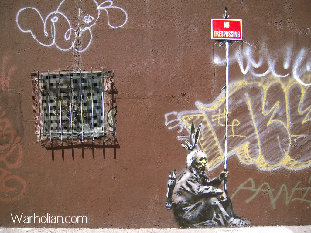 Banksy No Trespassing