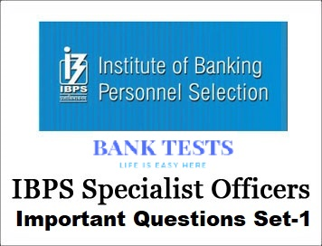 IBPS SO IT officer important questions