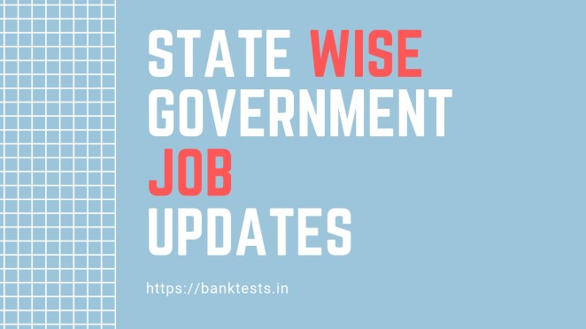 State Wise govt jobs
