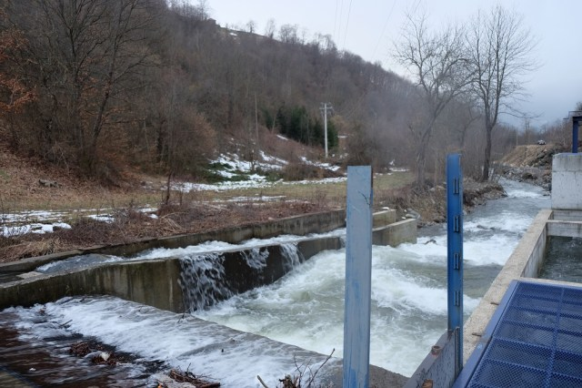 Marici hydropower plant, financed by Erste Bank. There is an abundance of water now, but no certainty that it will stay like this.