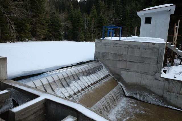 Samokovska reka 1 weir, deep in the National Park - financed by Sberbank