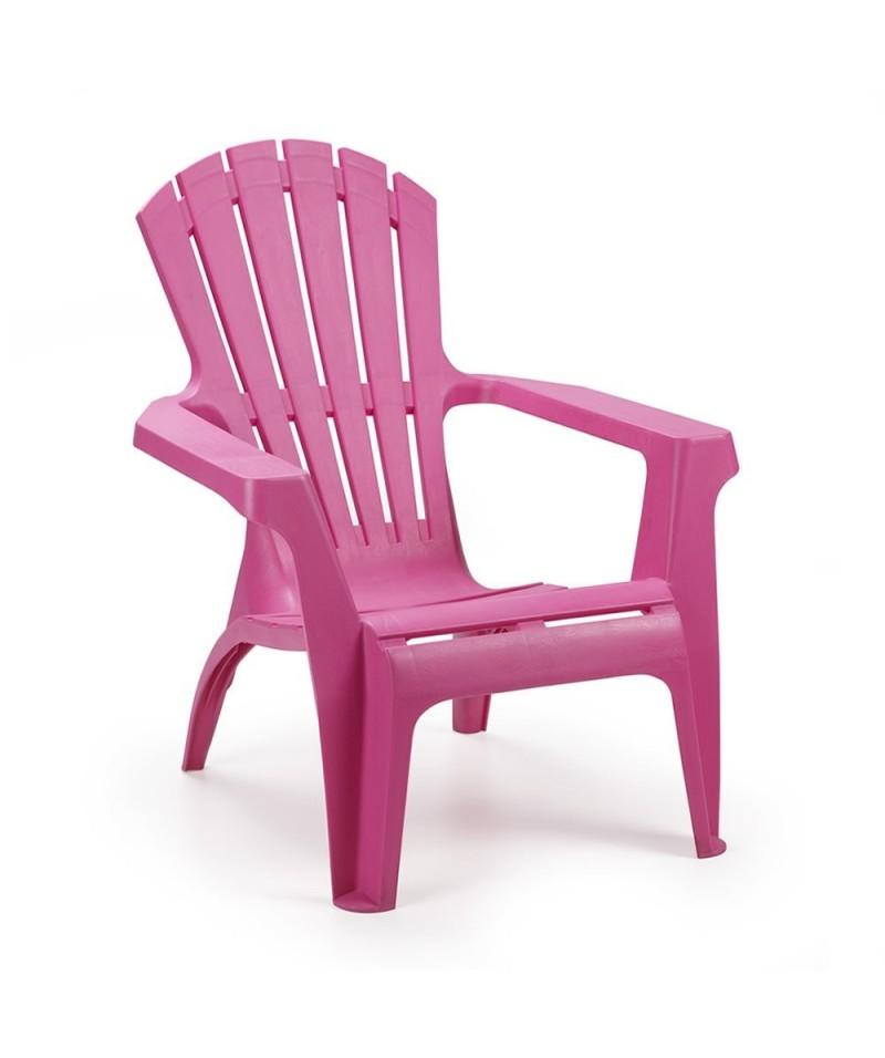 fauteuil bas dolomiti fushia