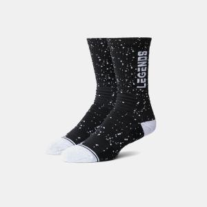 Legend Spotlight Athletic Socks (Black) (Small)